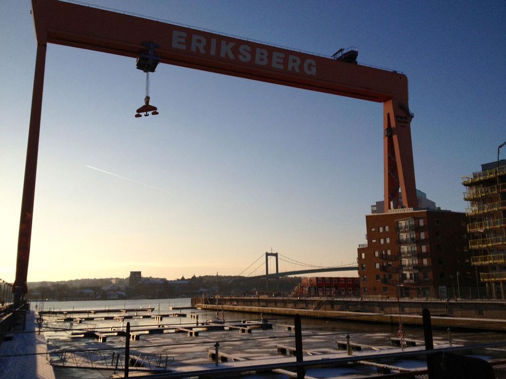 Eriksberg i vinterskrud